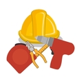Under construction equipment vector image