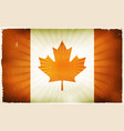 vintage canada flag poster background vector image vector image