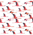watercolor flamingo pattern vector image