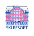 winter ski resort line vector image vector image
