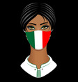 woman with face mask vector image