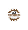 woodworking gear logo design template element vector image vector image
