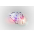 background abstract with horse vector image
