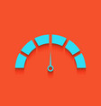 speedometer sign whitish vector image