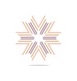 Symbol Letter X Logo Design Element vector image