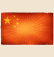 vintage china flag poster background vector image
