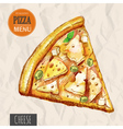 A slice of cheese pizza vector image