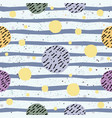 abstract seamless pattern with hand drawn elements vector image vector image