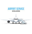airport service vector image vector image