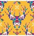 Animal head deer triangular pixel icon vector image vector image