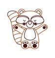 animal raccoon cartoon vector image vector image