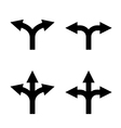 arrow sign set vector image vector image