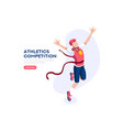 athletics strong competition vector image vector image