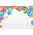 balloons and confetti party of a party background vector image