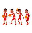 basketball player child set different vector image vector image