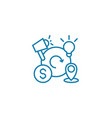 business cycles linear icon concept business vector image