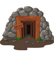 cartoon mine entrance vector image