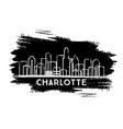 charlotte north carolina usa city skyline vector image