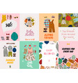 children fashion cards vector image vector image