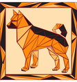 Chinese horoscope stylized stained glass dog vector image vector image