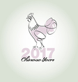 Chinese year 2017 vector image vector image