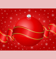 christmas decoration red vector image vector image