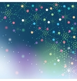 Christmas snowflakes on colorful background vector image