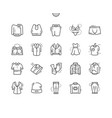 clothes well-crafted pixel perfect thin vector image
