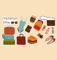 collection colorful vacation stickers or labels vector image vector image