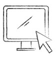 computer display with arrow cursor vector image vector image
