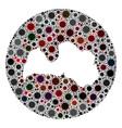 covid19 virus stencils circle latvia map mosaic vector image vector image