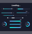 different interface loaders in dark colors vector image vector image