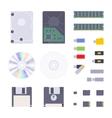 Digital memory storages set vector image vector image