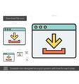 Download file line icon vector image vector image