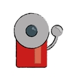 drawing alarm fire emergency alert icon vector image