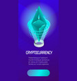 ethereum color isometric poster vector image vector image