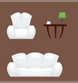 exclusive sitting furniture bedroom with couch vector image