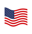 flag united states of america wave flat icon vector image vector image
