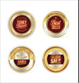 golden metal labels retro collection 3 vector image vector image