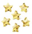 golden metallic stars vector image vector image