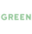 green text halftone icon vector image