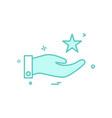 hand star icon design vector image