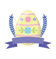 happy easter egg ribbon vector image vector image