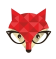 Hipster emblem with fox vector image vector image