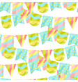holiday seamless pattern with garland of flags vector image