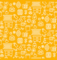 honey outline icon seamless yellow pattern vector image vector image
