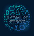 jewelry store blue round on vector image vector image