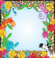 Jungle Zoo Party Invitation vector image vector image