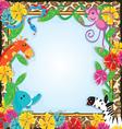 Jungle Zoo Party Invitation vector image