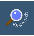 keywords searching concept with magnifying glass vector image